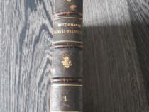 Carte veche dictionar roman francez g m antonescu 1890