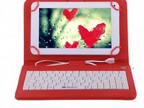 Husa Tableta 9.7 Inch Cu Tastatura Micro Usb , Rosu C18