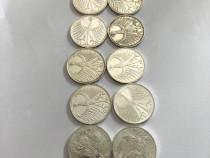 Lot 10 Monede Argint
