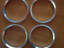 Inele centrare ghidaj noi din aluminiu 63.4-60.1 mm