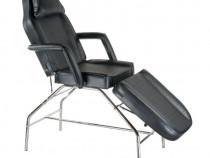 Pat, scaun cosmetica, masaj, BR-3351, piele ecologica, negru