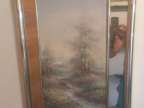 Tablou vechi pictat si semnat de swan 7