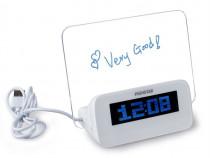 Ceas Digital Decorativ cu Led si Tabla pentru Mesaje C352
