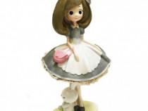 Figurina Fata Cu Poseta Si Iepuras, PC-10D