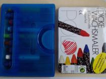 2 cutii creioane cerate, folosite, pt poznasi sau colectie