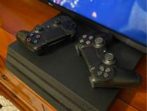 PS4 PRO + 2 manete + cont ps plus + jocuri