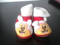 Pantofiori bebe, de culoare rosie, talpa de 12 cm