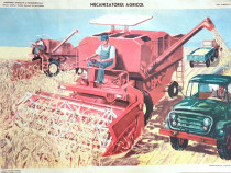 Afis / poster didactic - Mecanizatorul Agricol