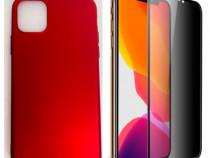 Iphone 11 / PRO / MAX - Husa Silicon si Folie Sticla Curbata