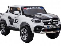 Masinuta electrica mercedes police x-class 4x4 premium #alb