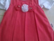 Rochie noua rosie + bluza cu maneca scurta 86