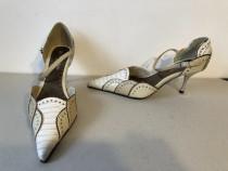 Pantofi eleganti, din piele ecologica, noi, cu eticheta, alb
