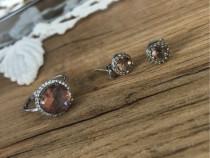 Cercei și inel din argint 925