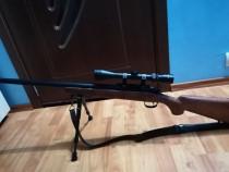 Sniper Airsoft+bipod+luneta+1000bile