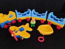 Trenulet bebe Playmobil/tren, barca si avion