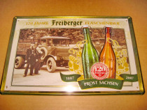 B816-Reclama Bere Club Restaurant Freiberger 120 ani metal.