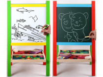 Tăbliță de scris educativă cu două fețe -tablă și whiteboard
