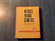 Metodica predarii geometriei in scoala generala B. Zlate