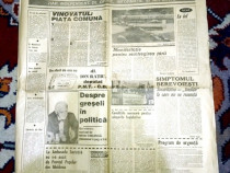 Ziar vechi Romania Libera 8 iun 1991 (8 pag) de colectie