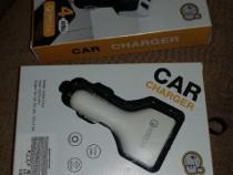 Incarcator auto 4 USB la bricheta QC3.0