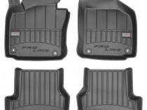 Set Covorase Auto Cauciuc Negro Volkswagen Golf 6 2008-2013