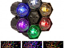 Proiector de lumini LED Running Light, 6 Led-uri, multicolor