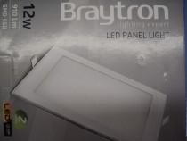 Panou (Aplica) LED Patrata Incastrabila 12W Lumina Alba