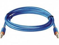 Cablu Jack 3.5mm la jack 3.5mm 1.2m textil Defender