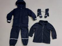 Set iarnă Didriksons, 110 - 116, geaca, pantaloni, manusi