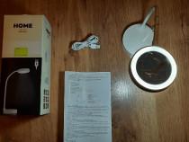 Lampa pentru Birou cu led si acumulator, alb+oglinda,Nou!