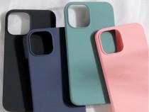 Iphone 12 MINI PRO MAX Husa Silicon X LEVEL Catifea Interior