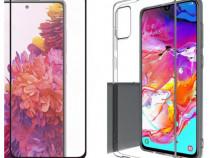 Folie Sticla + Husa Silicon Samsung M51 S20FE A20S M30S