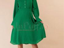 Rochie verde cu buline marimea 42