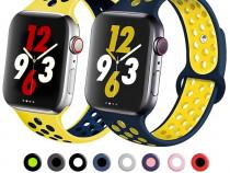 Curea Ceas Apple Watch Silicon Perforat 1 2 3 4 5 6 SE