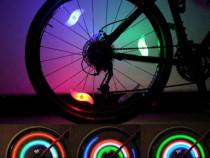Set 2 leduri cu lumini pentru roti la bicicleta , leduri pri