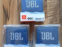 Boxa portabila JBL Go2, IPX7, albastru, noua, tipla, sigilat