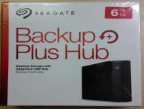 HDD extern Seagate Backup Plus HUB 6TB, USB 3.0 NOU sigilat