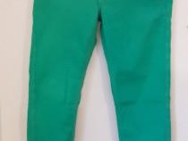 Blugi skinny verzi marca Guess cu talie joasa
