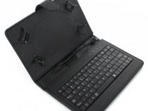 Husa Tableta 8 Inch Cu Tastatura Micro Usb Model X Negru C7
