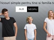 Tricouri simple albe si negre