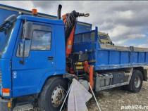Camion Volvo basculabil si macara Plafinger