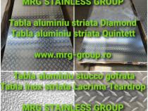 Tabla aluminiu striata 1250x2500mm Quintet Diamond Stucco