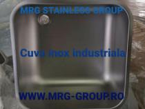 Cuva inox industriala 400x400x300 inox alimentar tabla bara