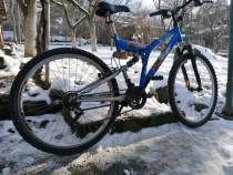 """Bicicleta Rocket 26"""" full suspension."""