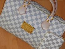 Set Louis 8vuitton speedy/Geantă și portofel new model