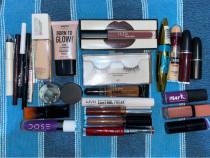 Kit Makeup Ruj Fond de ten Tuș Gel sprâncene Creion