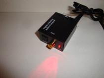 Adaptor audio digital DAC optic analogic RCA jack coaxial TV