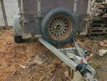 Remorcă auto de 850kg cu sistem de frânare