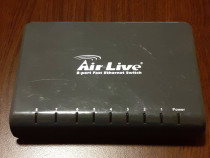 Switch Fast Ethernet AirLive FSH8PS v3, 8 porturi 10 / 100Mb