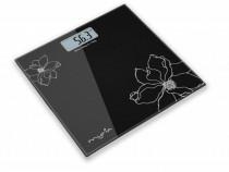 Cantar corporal pt persoane, 150 Kg, Negru cu Flori Albe NOU